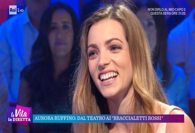 Aurora Ruffino a La Vita in Diretta