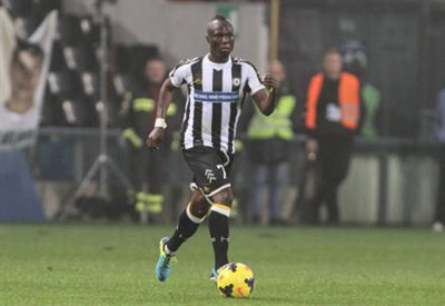 Emmanuel Badu, 23 anni, centrocampista ghanese dell'Udinese (INFOPHOTO)