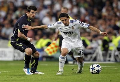 Gareth Bale contro Angel Di Maria (Infophoto)