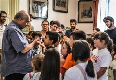 """Mons. Salvatore Gristina e i bambini del """"Big Bang"""" (Foto Ester Musumeci)"""