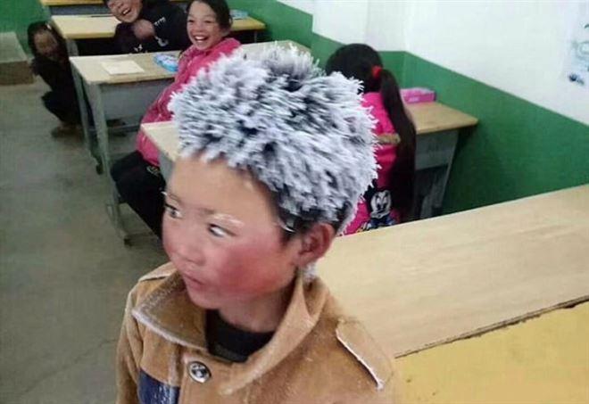 Il bambino di ghiaccio, foto da facebook