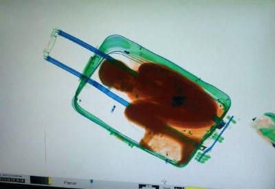 Il bambino in valigia scoperto dal metal detector