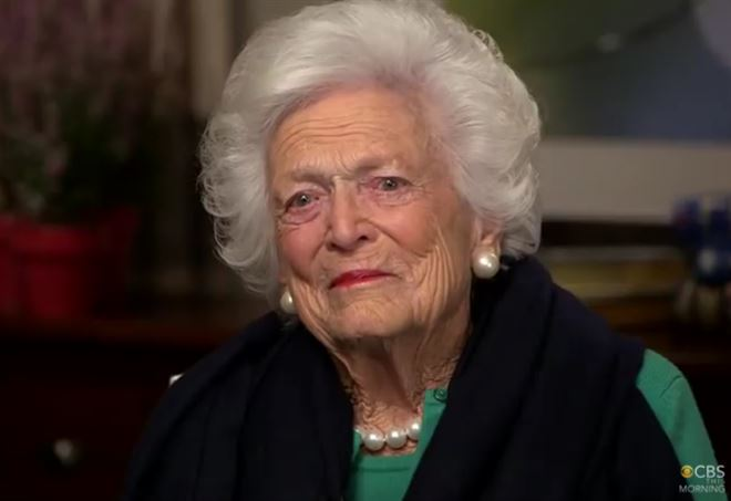 Barbara Bush, come sta?