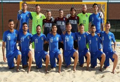 La Nazionale italiana di beach soccer per Baku 2015 (immagine FIGC)