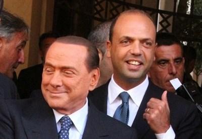 Silvio Berlusconi e Angelino Alfano (Infophoto)