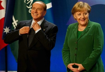 Silvio Berlusconi e Angela Merkel