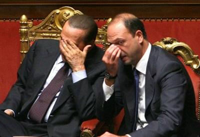 Silvio Berlusconi e Angelino Alfano ai tempi della crisi di governo (InfoPhoto)