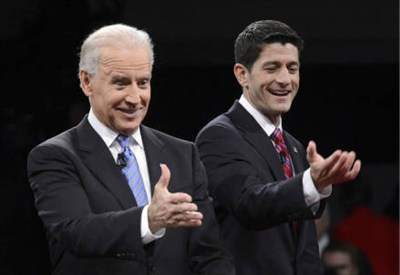 Joe Biden e Paul Ryan (InfoPhoto)