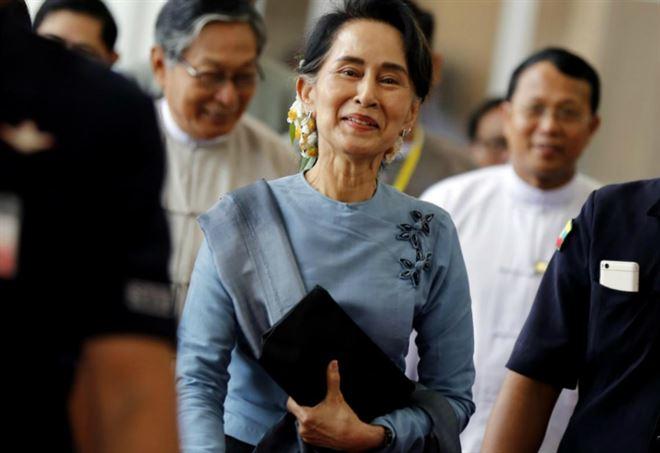 Aung San Suu Kyi (LaPresse)