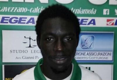 Lamine Bittaye, 19 anni (dalla pagina Facebook Avezzano Calcio)