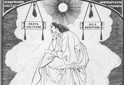U. Boccioni, Beata solitudo sola beatitudo (1907-08, particolare) (Immagine d'archivio)