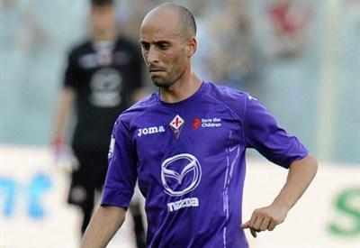 Borja Valero, 28 anni, centrocampista spagnolo della Fiorentina (infophoto)
