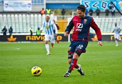 Marco Borriello, attaccante del Genoa (Infophoto)