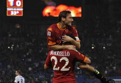 Marco Borriello, attaccante Roma (Foto Infophoto)