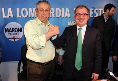 Umberto Bossi e Roberto Maroni