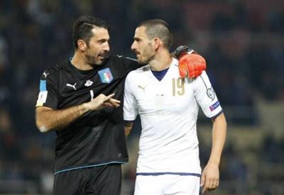 Buffon e Bonucci (Foto:Lapresse)