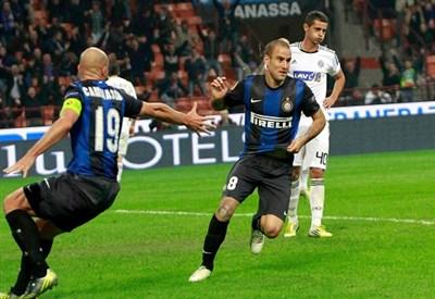 Rodrigo Palacio, attaccante Inter (Foto Infophoto)