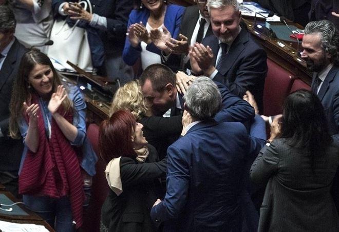 Eletti Pd alla Camera e al Senato (LaPresse)