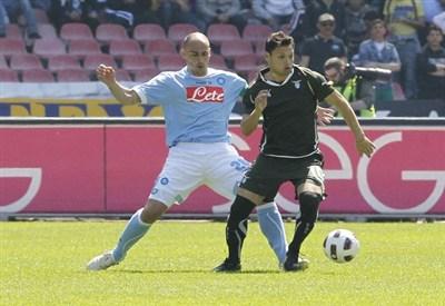 Un'immagine di un vecchio Napoli-Lazio (Infophoto)
