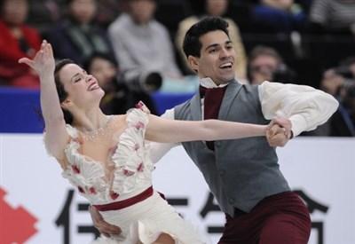 Anna Cappellini e Luca Lanotte in azione ai Mondiali (Infophoto)