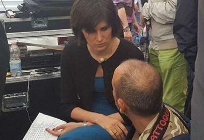 Chiara Appendino in campagna elettorale (Foto dal profilo FB di Chiara Appendino)