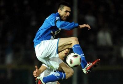 Andrea Caracciolo, 32 anni, attaccante del Brescia (INFOPHOTO)