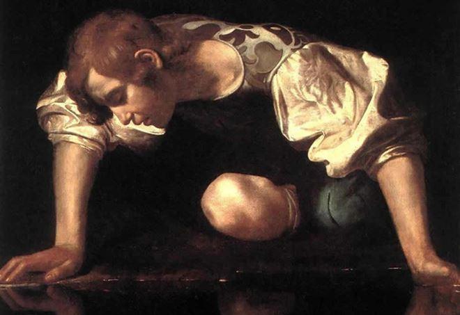 Caravaggio, Narciso (1597-99), particolare