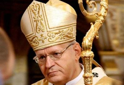 Il cardinale Péter Erdö, arcivescovo di Esztergom-Budapest e primate d'Ungheria