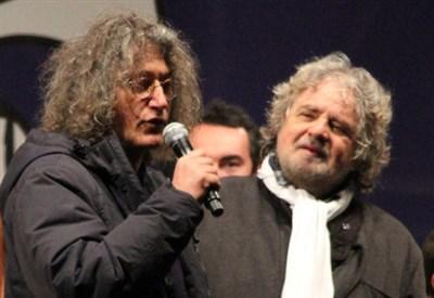 Gianroberto Casaleggio e Beppe Grillo (Infophoto)