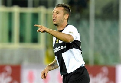 Antonio Cassano, prima stagione al Parma (Infophoto)