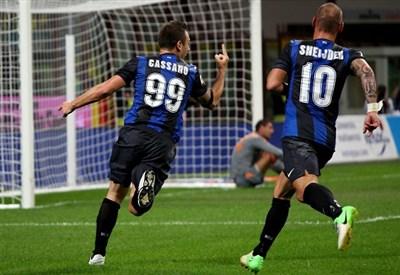 Antonio Cassano, attaccante dell'Inter (Foto Infophoto)
