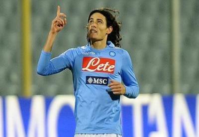 Edinson Cavani, a segno al Renzo Barbera (infophoto)
