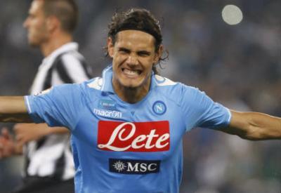 Edinson Cavani, attaccante del Napoli (Foto Infophoto)