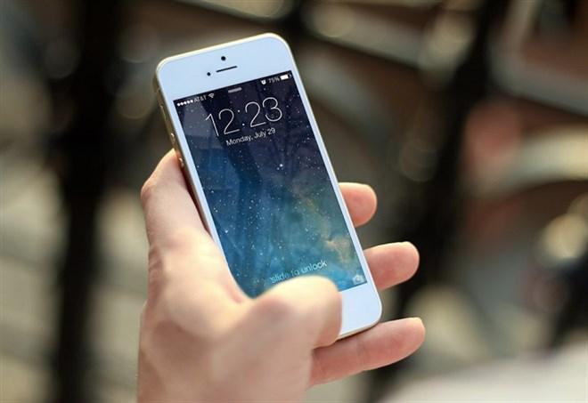 Un cellulare, foto d'archivio