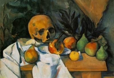 Paul Cézanne, Natura morta con teschio (1895-900) (Immagine dal web)