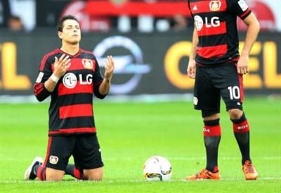 Javier 'Chicharito' Hernandez, 27 anni, attaccante messicano del Bayer Leverkusen (INFOPHOTO)