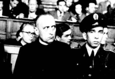 Cardinal Mindszenty in a show trial of the communist regime