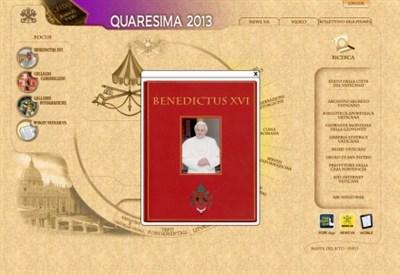L'home page in italiano del sito del Vaticano - 2 marzo 2013