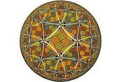M.C. Escher, Limite del cerchio III (xilografia, 1959)