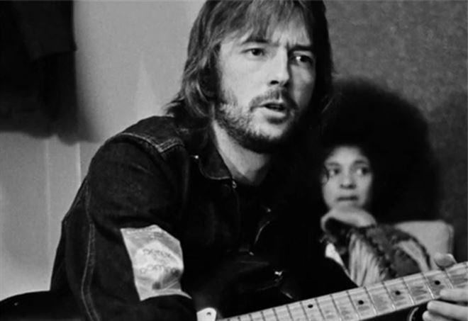 Eric Clapton in una immagine del film