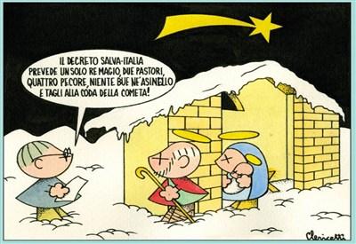 Una vignetta di Clericetti