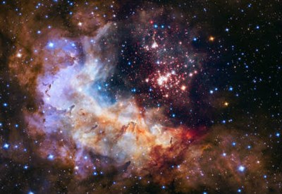 L'ammasso stellare Westerlund 2. Foto Credit: NASA, ESA, the Hubble Heritage Team (STScI/AURA), A. Nota (ESA/STScI), and the Westerlund 2 Science Team