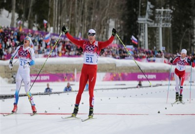 Dario Cologna vince la 30 km skiathlon (Infophoto)