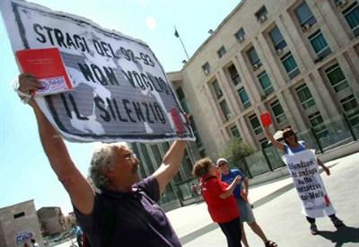 Manifestazioni per l'anniversario dell'uccisione di Borsellino - Infophoto