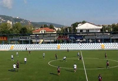 Lo stadio Comunale di Chiavari (dall'account Twitter ufficiale @V_Entella)