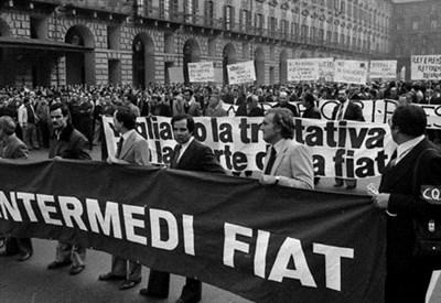 La marcia dei 40mila quadri Fiat, 14 ottobre 1980 (Immagine d'archivio)