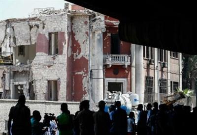 Il luogo dell'attentato (Infophoto)