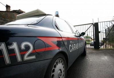Il carabinieri sul luogo del delitto