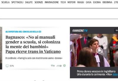 Un'immagine del servizio del Corriere.it