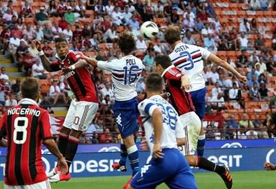 Sampdoria-Milan è l'anticipo di sabato sera: un precedente (Infophoto)